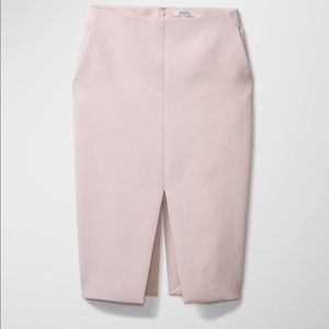Aritzia Babaton Jax Double Slit Pencil Skirt Pink